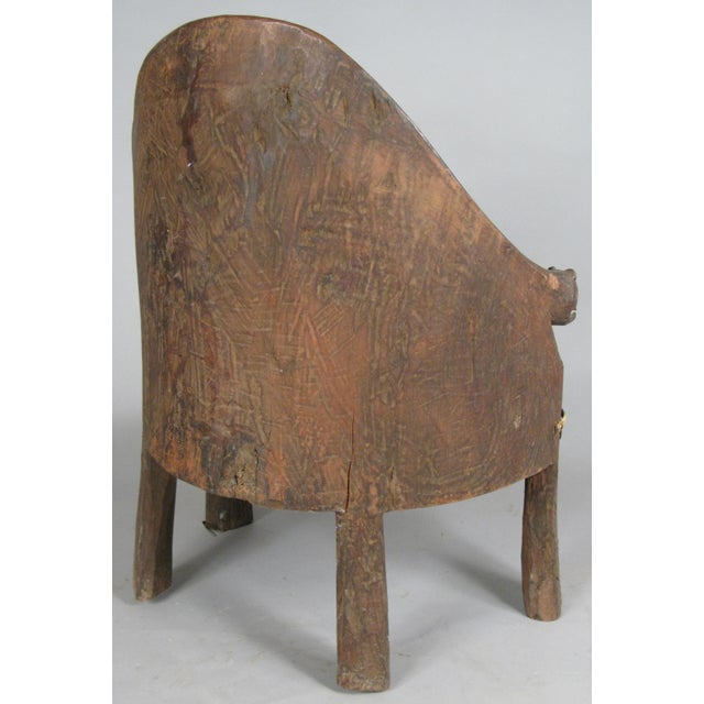 Carved Chief's Chair From Nagaland, India For Sale - Image 4 of 9