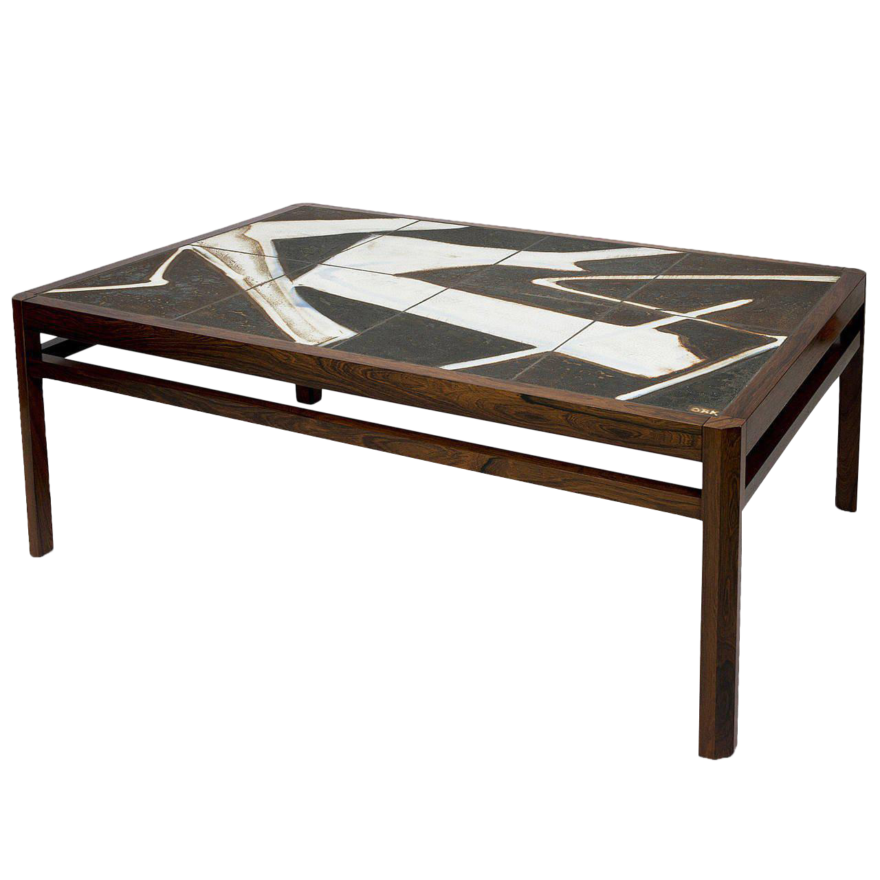 Danish Rosewood Abstract Tile Coffee Table   Image 1 Of 10