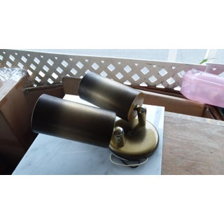 1960's Gold Tone Steel Double Cylinder Sconce Preview