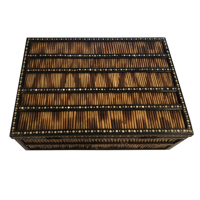 19th Century Anglo Indian Porcupine Quill Decorated Work Box For Sale - Image 4 of 8