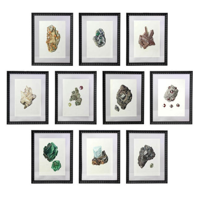 Antique French Gemstone Mineralogy Study Lithographs Prints - Set of 10 For Sale - Image 13 of 13