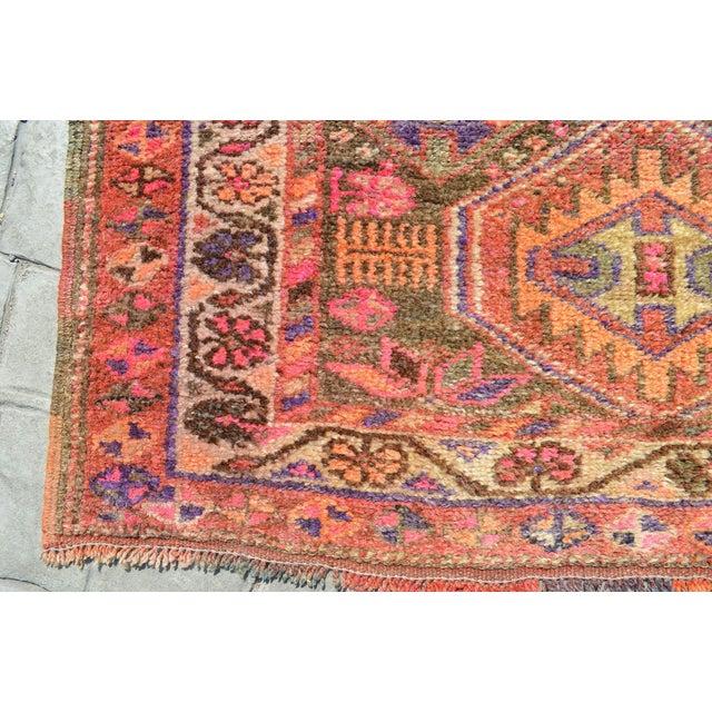 Textile Fantastical Kurdish Runner Rug. Hand-Knotted Antique Herki Tribal Runner - 3′ 1″ × 11′ For Sale - Image 7 of 12