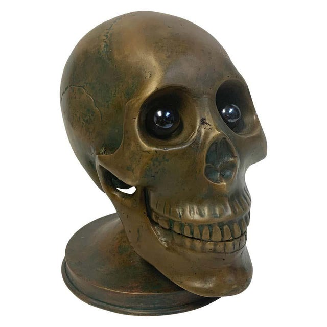 Victorian Bronze Skull With Glass Eyes, by s.w. Farber, New York For Sale - Image 10 of 10