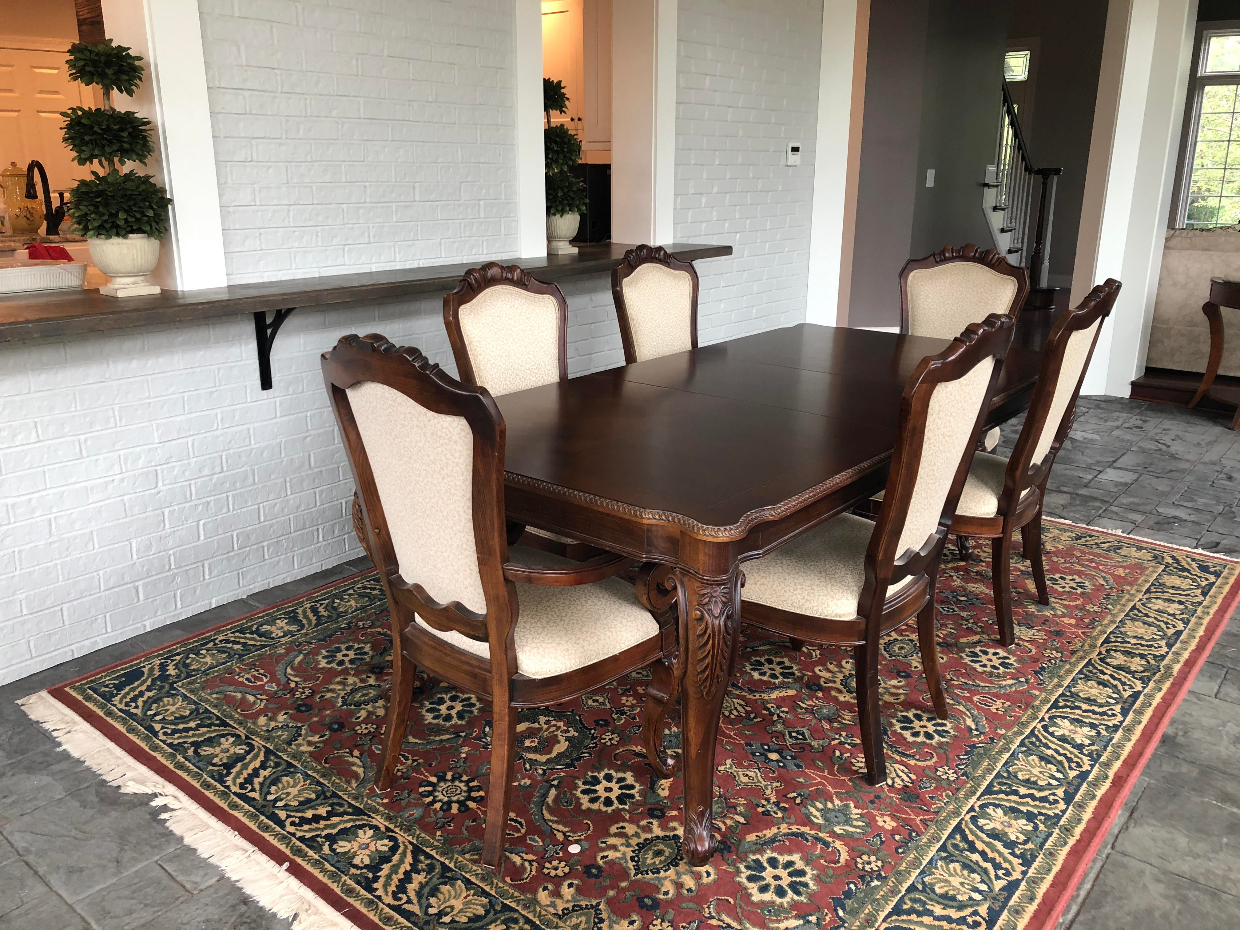 Chippendale Thomasville Traditional Cherry Dining Room Set For Sale   Image  3 Of 9