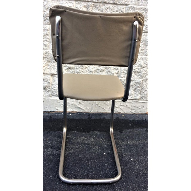 Art Deco Art Deco Tube Side Chair For Sale - Image 3 of 7