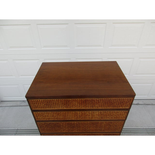 Cane Front Eight Drawer Dresser by Directional For Sale - Image 9 of 12