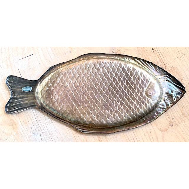 Late 20th Century Early Reed and Barton Silver Fish Platter For Sale - Image 5 of 6
