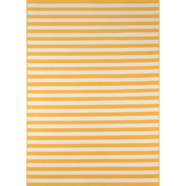 "Momeni Baja Yellow Indoor/Outdoor Rug - 7'10"" X 10'10"" For Sale In Atlanta - Image 6 of 6"