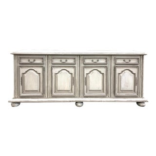 Mid 20th Century French Lous XV Painted Two Tone Enfilade For Sale