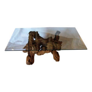 Vintage Grapevine Coffee Table For Sale