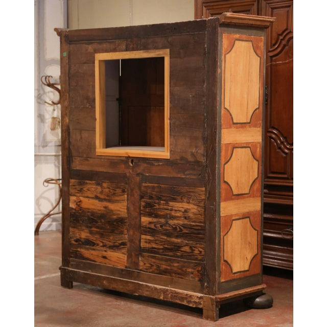 Early 19th Century French Pine Two-Door Painted Armoire From Alsace-Lorraine For Sale - Image 12 of 13