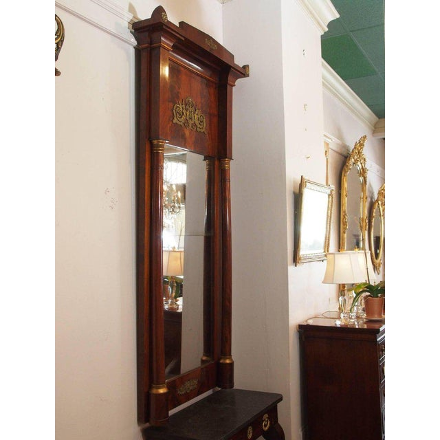 Antique French Empire Mahogany Pier Mirror - Image 9 of 10