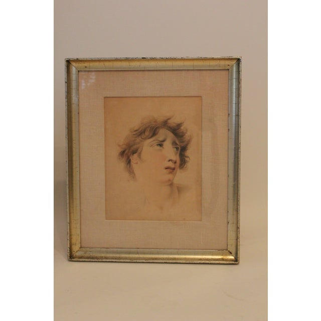 Two non-matching English drawings, after Thomas Lawrence, framed as a pair. With silver-leaf frames, the set should be...
