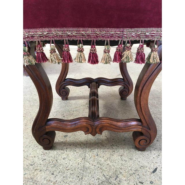 Late 19th Century 19th Century French Walnut Stools - a Pair For Sale - Image 5 of 9