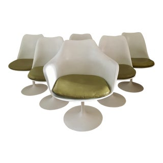 1960s Danish Modern Eero Saarinen for Knoll Tulip Chairs - Set of 6 For Sale
