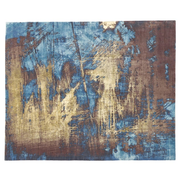 "Contemporary Abstract Scratch Texture Rug - 8'7"" x 9'11"" - Image 7 of 7"