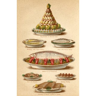 1869 Seafood Cooking Print