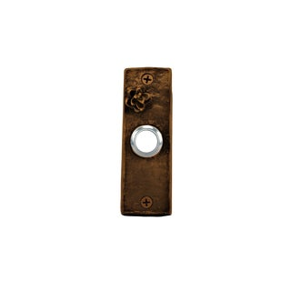 Slim Hemlock Cone Doorbell with Traditional Patina For Sale