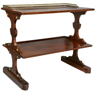 Edwardian Mahogany and Crossbanded End Table For Sale