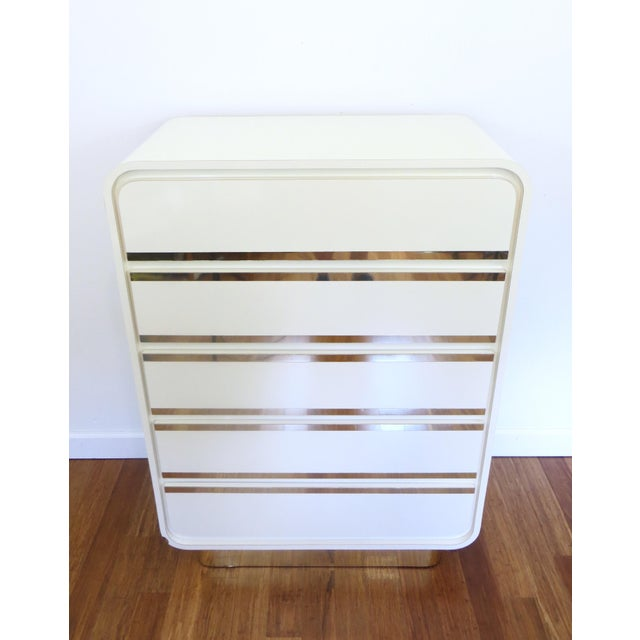 Brass & Lacquer Waterfall Dresser - Image 3 of 8