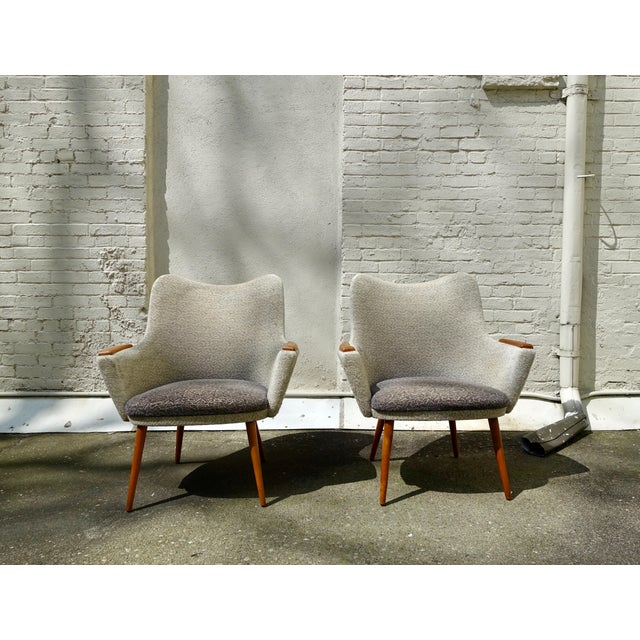 Danish Modern 1960s Mid-Century Danish Modern Mogens Koch for Carl Hansen & Son Bergere Chairs - a Pair For Sale - Image 3 of 4