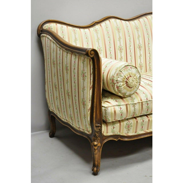 Early 20th C. Vintage French Louis XV Provincial Style Sofa For Sale In Philadelphia - Image 6 of 12
