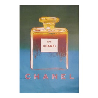 1997 Original Vintage Andy Warhol Pop Art Chanel No. 5 Poster (Large), Green/Blue