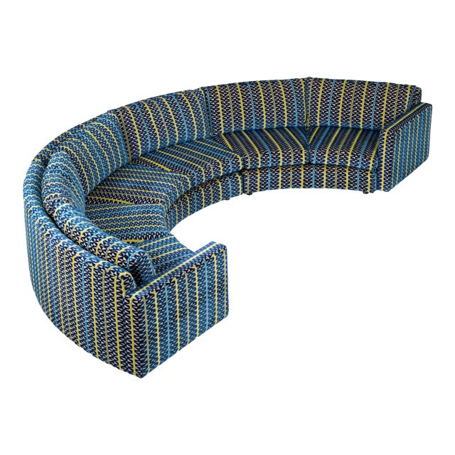 Milo Baughman Curved Sectional Sofa For Sale