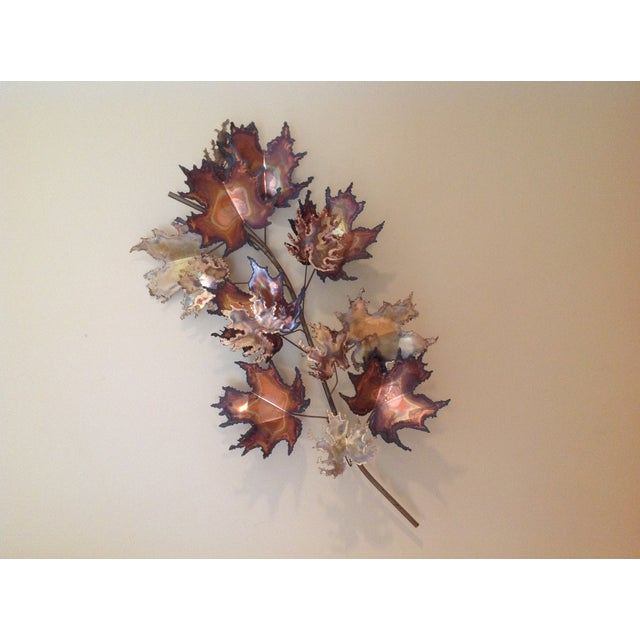 C Jere Brass Autumn Leaves Wall Sculpture, 1971 - Image 3 of 6