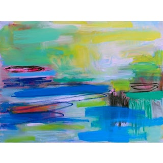 """Everglades"" by Trixie Pitts Large Abstract Oil Painting For Sale"