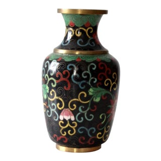 Vintage Chinese Cloisonne Vase For Sale
