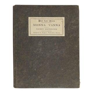 """Maurice Maeterlinck """"Monna Vanna"""" Book"""
