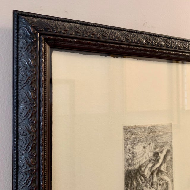 Renior 1894 Etching With Museum Glass For Sale In Chicago - Image 6 of 9