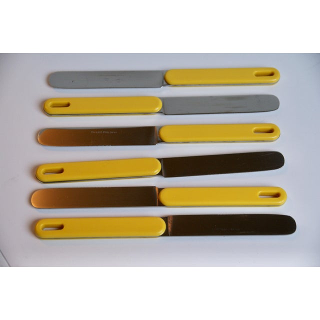 Mod Yellow Flatware - Set of 23 For Sale - Image 5 of 8