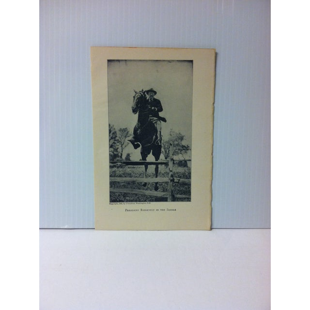 """1919 """"President Roosevelt in the Saddle"""" Theodore Roosevelt Print on Paper For Sale - Image 4 of 4"""