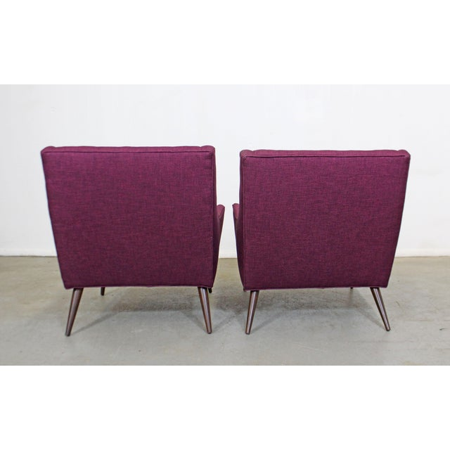 Pair of Mid-Century Modern Paul McCobb Style Lounge Chairs For Sale In Philadelphia - Image 6 of 12