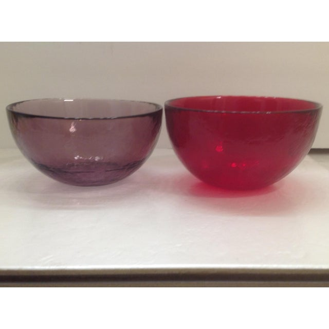 Yalos Casa Murano Art Glass Bowls - Set of 4 For Sale - Image 7 of 9