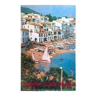 "Vintage Mid Century "" Espana Costa Brava "" Spain Travel Poster For Sale"