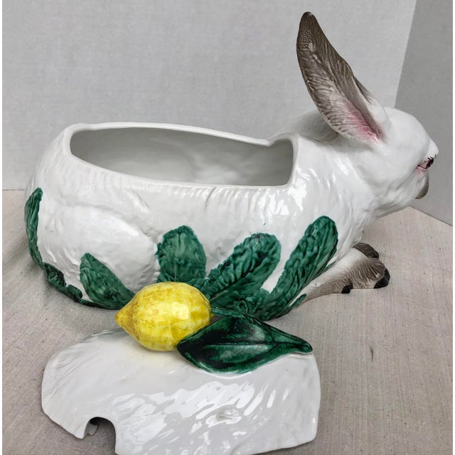 Late 20th Century Italian Vintage Bunny Lidded Tureen. For Sale In West Palm - Image 6 of 13