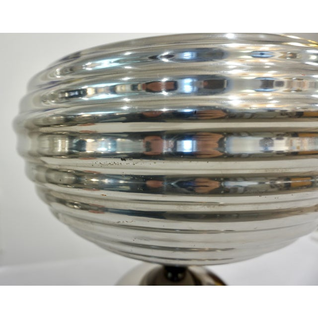 Silver Flos 1960s Castiglioni Round Silver Tone Polished Aluminum Table Lamps - a Pair For Sale - Image 8 of 13