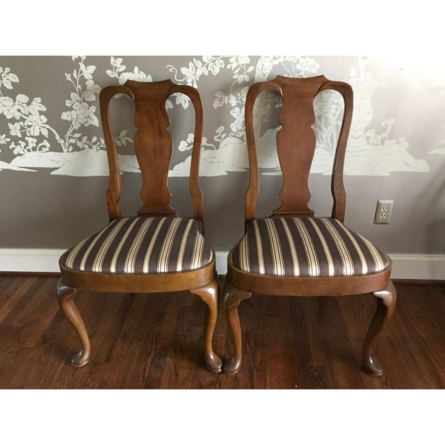 Armless Queen Anne Style Dining Chairs - Set of 12 - Image 4 of 6