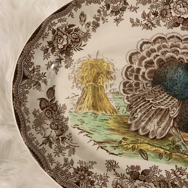 """Vintage and in excellent condition turkey platter by Royal Staffordshire. Made in England. Circa 1960s. 19"""" Oval shaped..."""