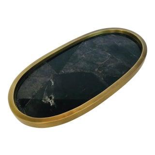 21st Century Black Quartz Stone Kifu Tray For Sale