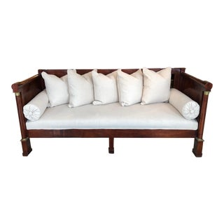 Antique French Empire Mahogany Daybed Sofa For Sale