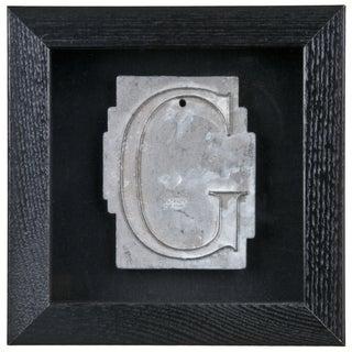Framed Mid Century Spacerite Steel Letter G