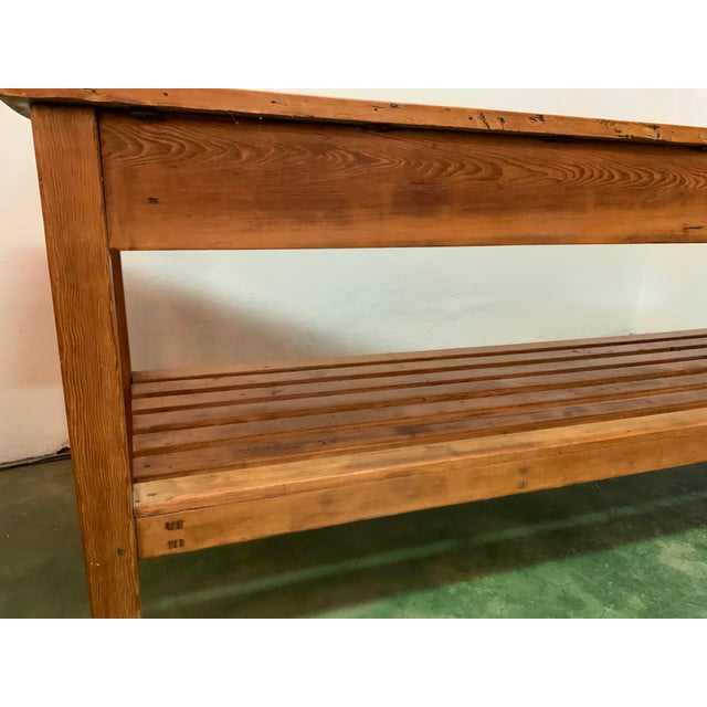 Wood 19th Century Rustic Pine Table / Sideboard For Sale - Image 7 of 13
