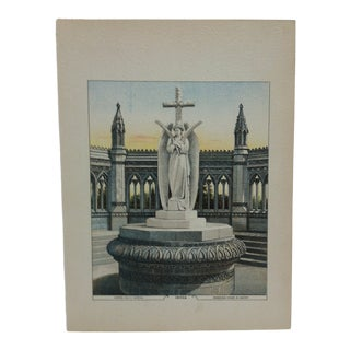 """Vintage 1886 Realist Kreb's Lithograph Company Plate Illustration,""""India"""" by George Moerlein For Sale"""