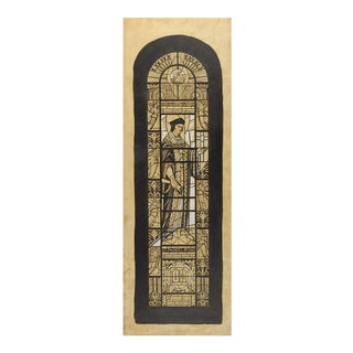 Thomas More Stained Glass Study Drawing For Sale