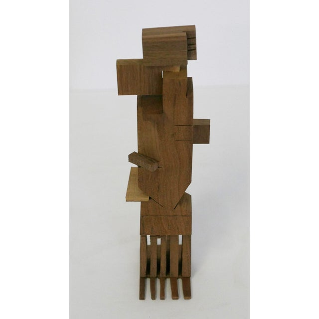 Los Angeles Artist Behzad Haghiri's Hand Made Walnut Sculpture For Sale In Palm Springs - Image 6 of 6
