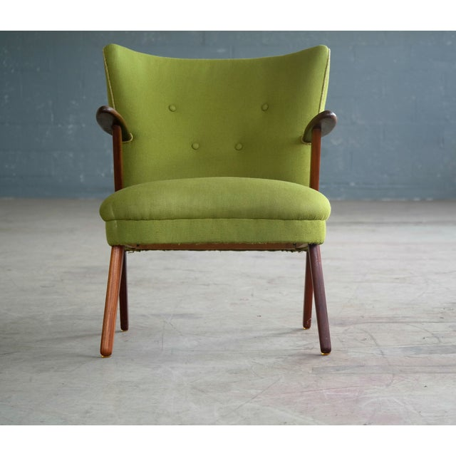 Danish Mid-Century Easy Chair in the Style of Madsen and Schubel - Image 7 of 9